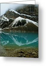 Fog Has Lifted From Lake Louise Greeting Card