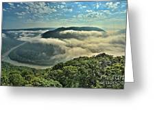 Fog In The Grand View Valley Greeting Card