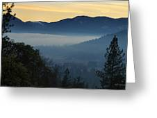 Fog Invades The Evans Valley Greeting Card