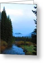 Fog Mountain Greeting Card