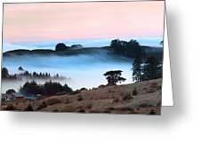 Fog Over The Bodega Coastline In California Greeting Card