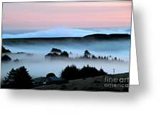 Fog Over The Coastline Of Sonoma County California Greeting Card