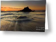 Fogarty Creek Sunset Greeting Card