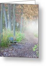 Foggy Autumn Morning Greeting Card