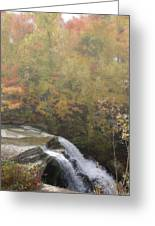 Foggy Brandywine Falls Greeting Card