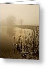 Foggy Day At Silver Lake Greeting Card