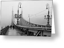 Foggy Day In Budapest Greeting Card