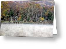 Foggy Fall On Maryland Towpath Greeting Card
