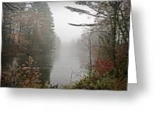 Foggy Fall River Greeting Card