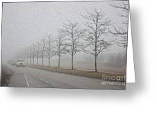 Foggy January Greeting Card