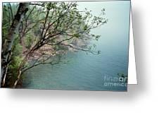 Foggy Lake Superior Greeting Card