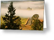 Foggy Morning Drive Greeting Card