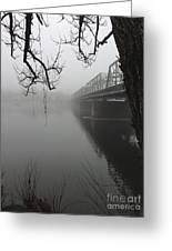 Foggy Morning In Paradise - The Bridge Greeting Card