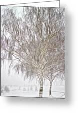 Foggy Morning Landscape - Fractalius 4 Greeting Card by Steve Ohlsen