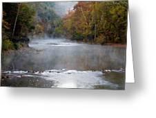 Foggy Morning On The Buffalo Greeting Card