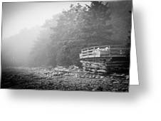 Foggy Morning Overlook Greeting Card