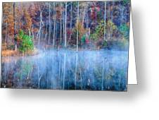 Foggy Morning Reflections Greeting Card