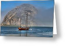 Foggy Morrow Bay Greeting Card
