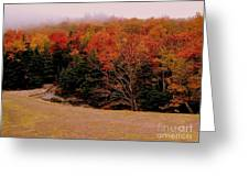 Foggy Mountain Landscape Greeting Card