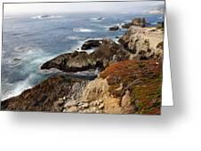 Foggy Pacific Coast  Greeting Card