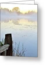 Foggy Pond Greeting Card