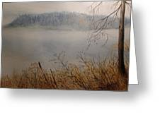 Foggy River Greeting Card