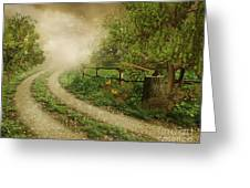 Foggy Road Greeting Card by Boon Mee