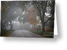 Foggy Street Greeting Card