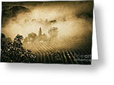 Foggy Tuscany Greeting Card