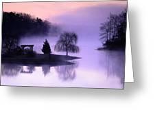 Foggy Twilight Greeting Card