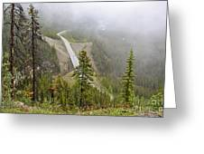 Foggy View From Icefields Parkway Greeting Card