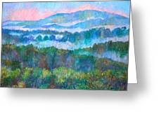 Foggy View From Mill Mountain Greeting Card