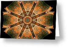 Folded 8-pointed Kaleidoscope Image Greeting Card