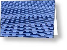 Folding Plastic Blue Seats Greeting Card