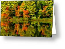 Foliage In New Hampshire Greeting Card