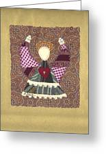 Folk Angel Greeting Card
