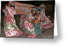 folk dance group from Madagascar 2 Greeting Card