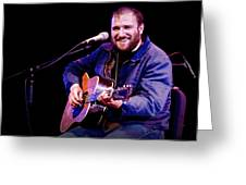 Folk Musician David Bazan In Concert Greeting Card