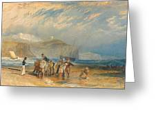 Folkestone Harbour And Coast To Dover Greeting Card