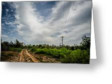 Follow The Dirt Road Home Greeting Card by Kelly Kitchens