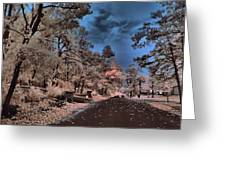 Follow The Infrared Road Greeting Card