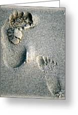 Following In Your Footsteps Greeting Card