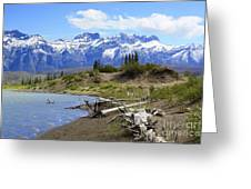 Following The Athabasca River Greeting Card