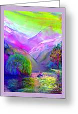 Love Is Following The Flow Together Greeting Card