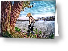 Following The River Greeting Card