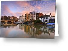 Folly Bridge In Oxford. Greeting Card
