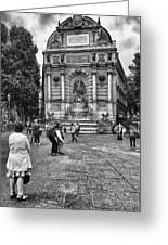 Fontaine Saint Michel Greeting Card