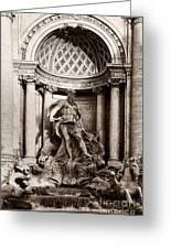 Fontana Di Trevi Greeting Card