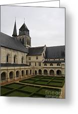 Fontevraud Abbey Courtyard -  France Greeting Card