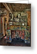 Fonthill Castle Bedroom Fireplace Greeting Card